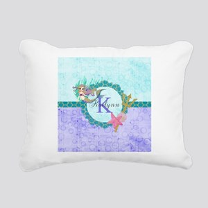 Personalized Monogram Mermaid Rectangular Canvas P